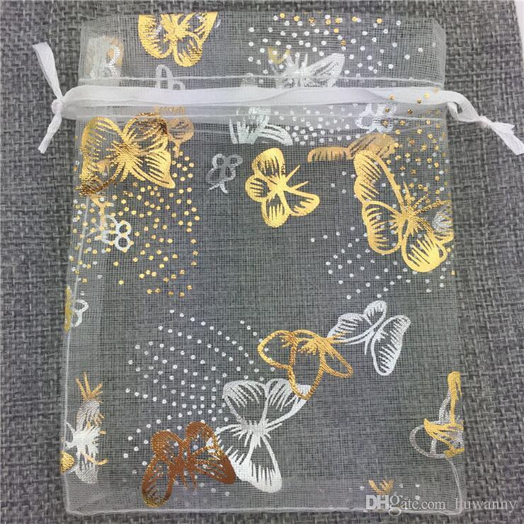 الأورجانزا الحقائب والمجوهرات أكياس هدية لرباط الرباط حقيبة حفل زفاف 10 * 12cm حزمة المجوهرات بالجملة شحن مجاني 0584WH