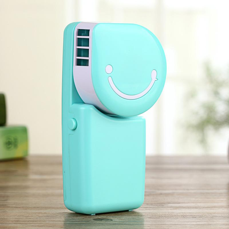 Home Appliances The Cheapest Price New Smile Face Mini Handheld Battery Rechargeable Usb Fan Water Cooling Fan Portable Micro Cooler For Home Office Outdoor Fans