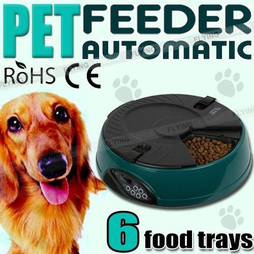 Green Lcd Auto Dog Cat Pet Feeder Dispenser Food Bowl Automatic