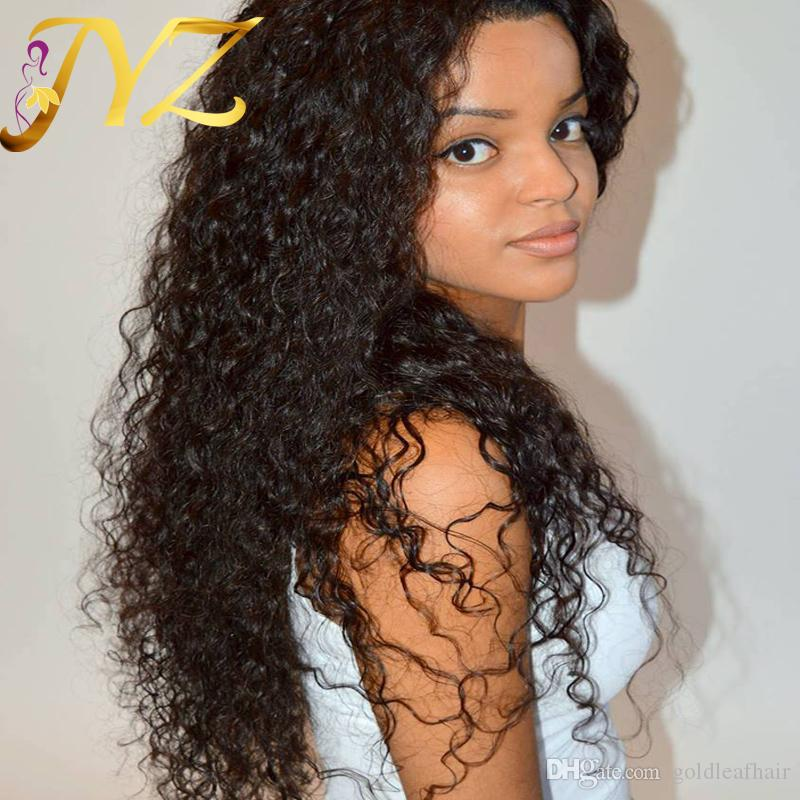 Top Quality Lace Front Wigs Brazilian Malaysian Peruvian 130% Density Swiss Lace Curly Full Lace Wigs Deep Curly Hair