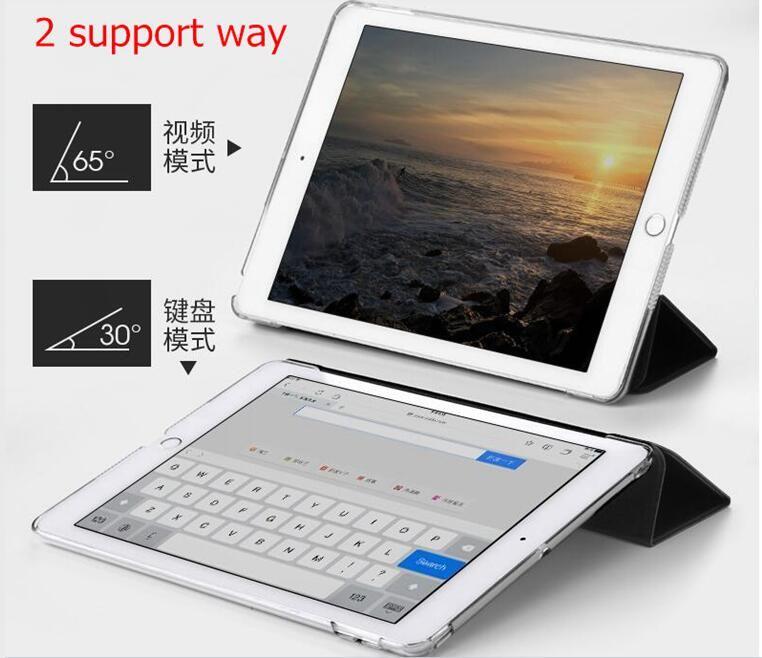 nice smart soft silicone case for apple 2017 iPad air mini 1 2 3 4 5 pro 10.5 8 cover case