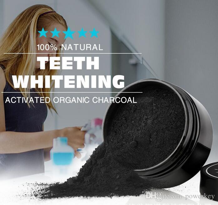 free ship Natural Teeth Whitening Powder Activated Organic Charcoal Stain Remover Tooth cleaning