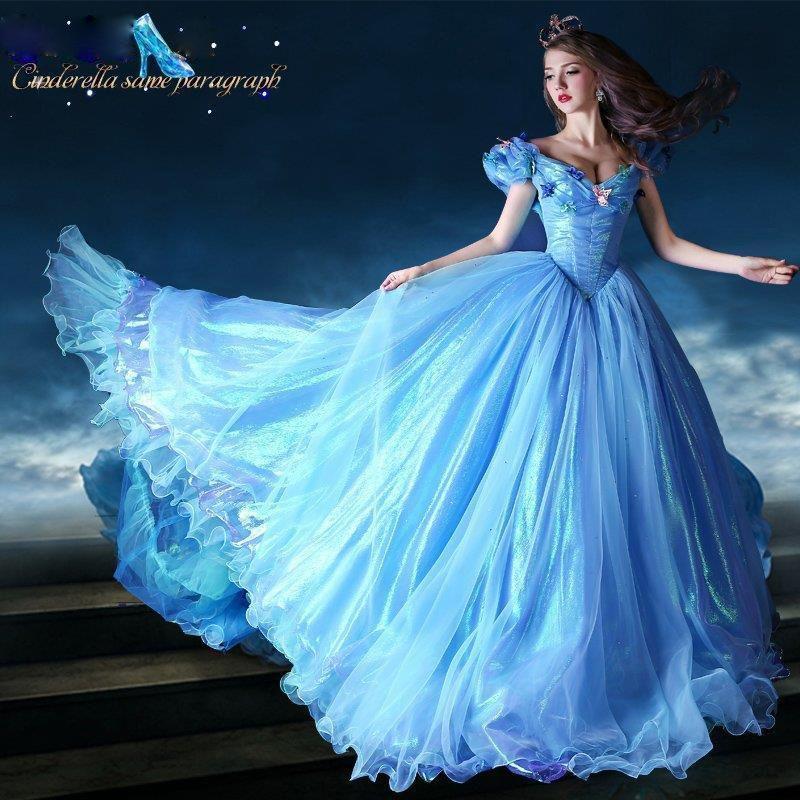Doux 15 Perles Bleues Quinceanera Robe De Noël Cendrillon Danse Ball Femmes Soirée Prom Catwalk Pageant De Célébrité Party Robes De Mariée