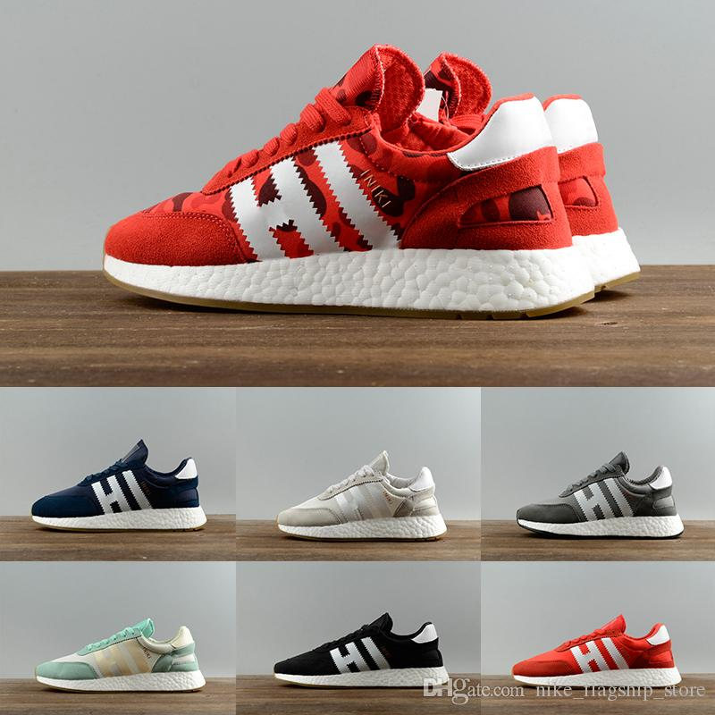 BOX HOT 2017 Hight Quality Iniki Runner Boost Sneakers Fashion Iniki Boost Women Men Red Blue Grey Leather Sports Running Shoes 36-44 free shipping store Nr2VNkU