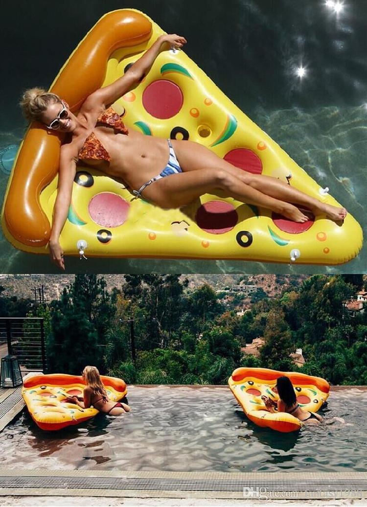 Heißesten Verkauf Sommer Aufblasbare Schwimmboden Aufblasbare Wassersport Schwimmen Float Floß Luftmatratze Schwimmen Pool Strand Yard Spielzeug Pizza DHL