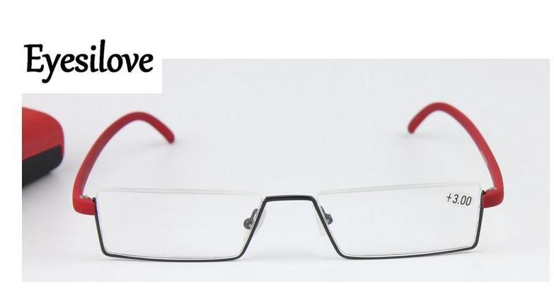 Розничная мода женщины очки для чтения hlaf-rim TR90 очки для чтения высокого качества идти с делом красный