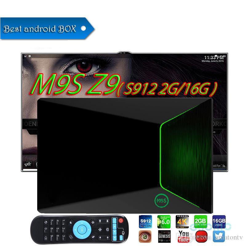 2018 best M9S Z9 Smart Android 7 1 TV Box Amlogic S912 Dual WIFI Bluetooth  4K Google Media Player Better TX3 MINI T95Z PLUS