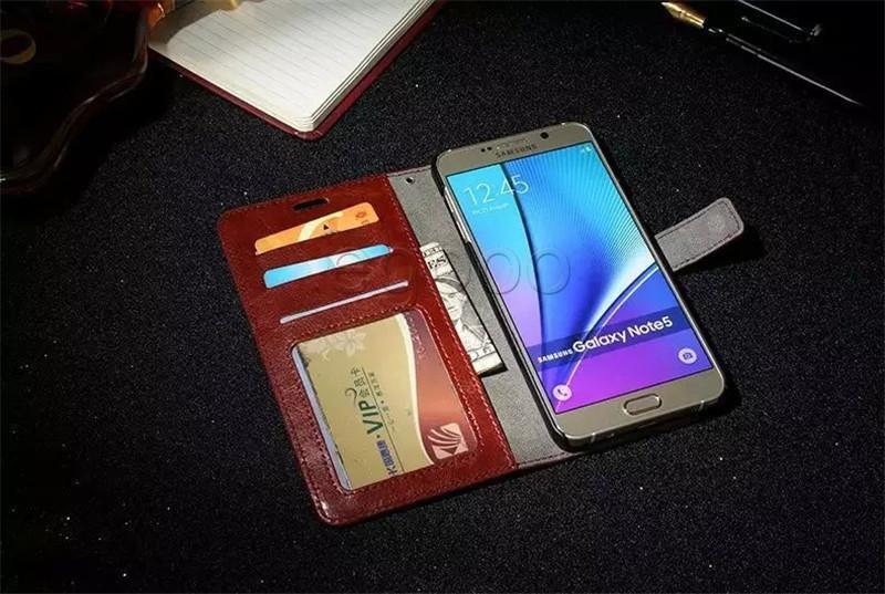 De lujo de la PU billetera de cuero bolsa de la cubierta del caso con la tarjeta de la ranura del marco de fotos para el iPhone 6 7 5 6s 5s Plus para la cubierta del caso EDGE Samsung S5 S6 S7