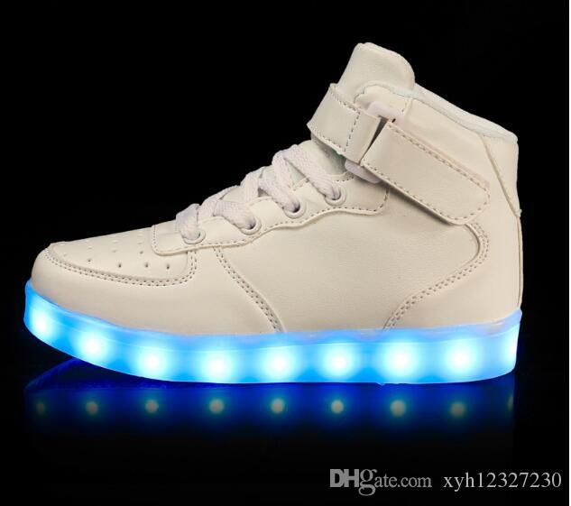 skechers shoes light up white. 2016 Shining Colors Luminous Sport LED Shoes Men With Lighted For Adults Light Up Led Skechers White C