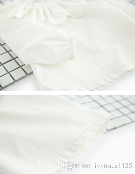 اعتصامات جديدة وصول 2017 الفتيات الاطفال قميص طويل الأكمام عباد الشمس عموم طوق تي شيرت الفتيات السببية 100٪ ٪ طفلة بلوزة السفينة مجانية