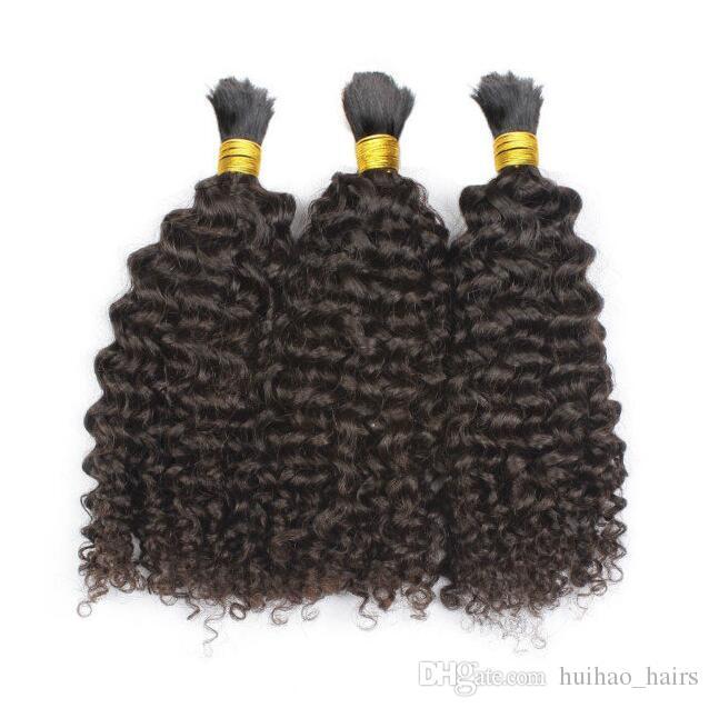 Wholesale-Brazilian Human Braiding Hair Bulk 8A Grade Brazilian Kinky Curly Human Hair For Braiding Bulk No Attachment Curly Bulk Hair