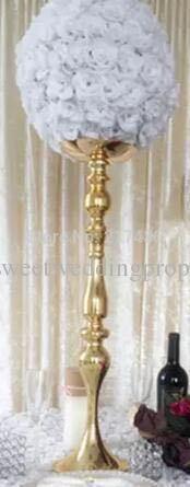 украшение стойки дорожки венчания колонки венчания металла золота