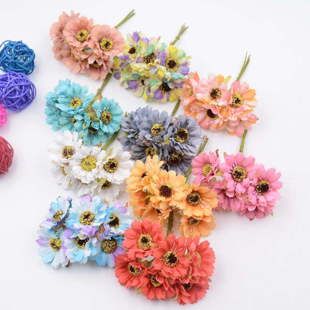 2018 wholesale silk forest style daisy artificial flower bouquet for 2018 wholesale silk forest style daisy artificial flower bouquet for wedding party decoration diy gift box accessories rose fake flowers from williem izmirmasajfo