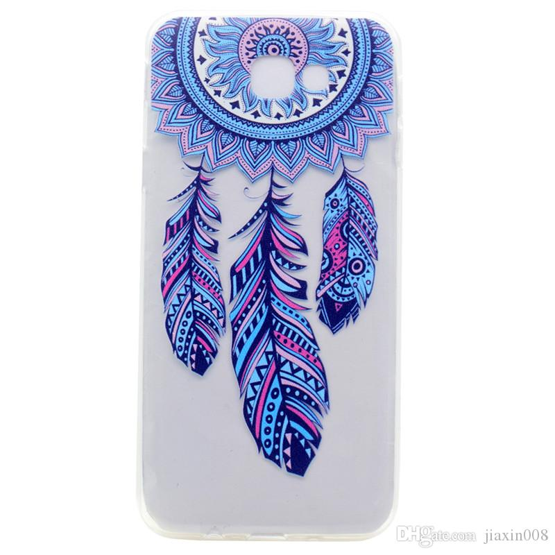 b92d659220a Fundas Movil Baratas Cubierta Transparente De TPU Para Samsung Galaxy J7  Prime Case Color De Moda Decoración Torre Bicicleta Butterfly Girl Feather  Diseño ...