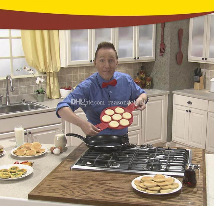 Flippin Fantastic Fast Easy Way para hacer panqueques perfectos Egg Ring Maker Fabricante de pancake antiadherente para hornear moldes con caja