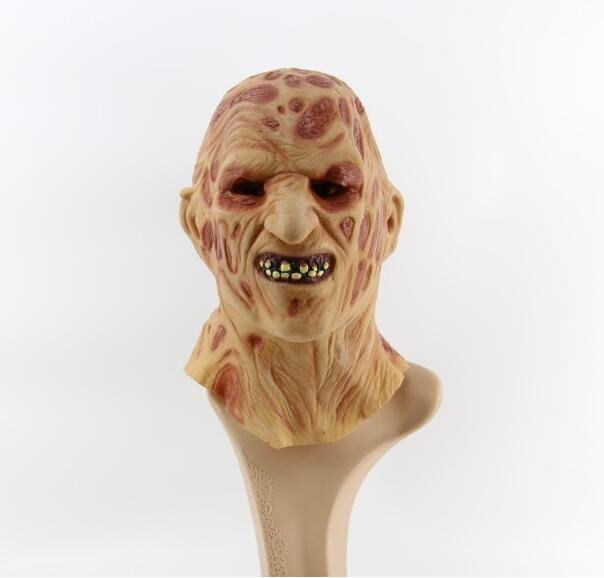 Halloween Adulto Máscara de Freddy Máscara de Zumbi Látex Sangrento Assustador Extremamente Nojento Cara Cheia Jason Mask Traje Do Partido Cosplay Prop