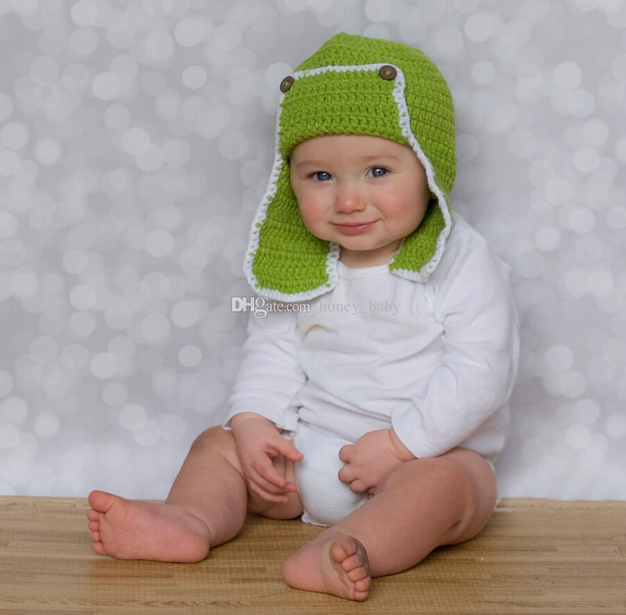Acquista Cappello Da Aviatore Cappello Lavorato A Maglia All uncinetto  Neonato Bambina Bambino Beanie Earflaps Inverno Natale Cap Animale Neonato  Toddler ... bc21b2d07e8f