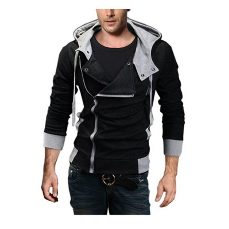 Wholesale-Asian Size M-6XL Plus Size Hooded Jacket Men 2016 New Arrival Sportswear Assassins Creed Men's Zipper Hoodies and Sweatshirts