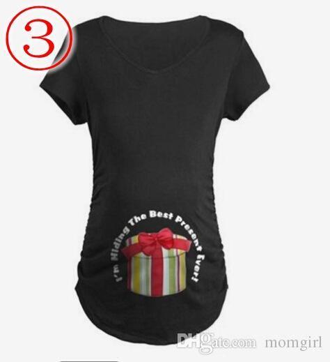 dd05a753b Compre Verano Embarazada Camiseta Casual Lindo Patrón De Maternidad Tops Embarazo  Camisa Gran Regalo Camisetas Tamaño De La Ropa S XXL A  5.23 Del Momgirl ...