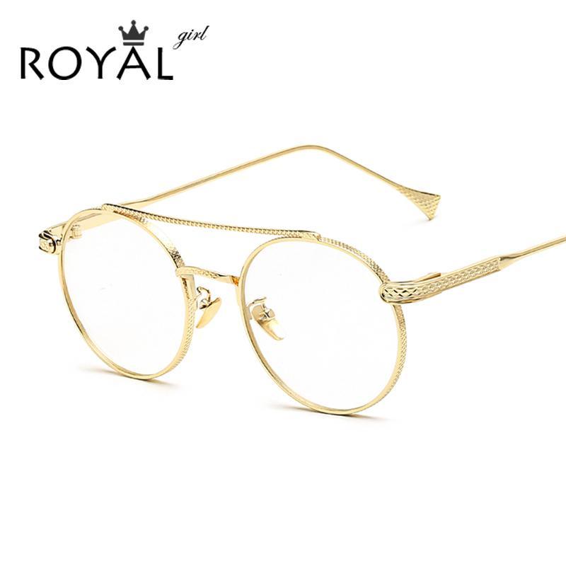 Compre Al Por Mayor Royal Girl Men Vintage Eyeglasses Frame Mujeres ...