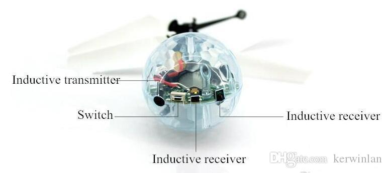 New Flying Toys Upgrade-Classic Electronic Toys LED Noctilucent Ball RC Fly Helicopter For Kids Ball Floating Flashing with lights