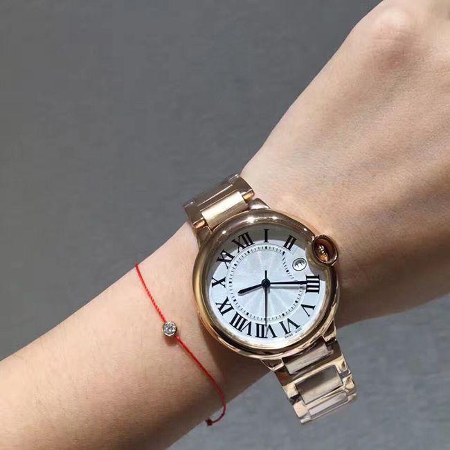 Aço Top Lady relógios de ouro da moda inoxidável Mulheres Relógio Feminino de alta qualidade Rosegold de quartzo Relógios de pulso