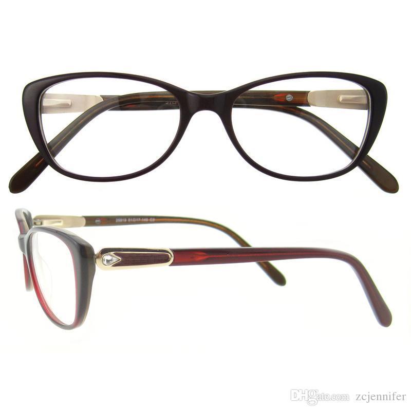 2017 Oval Fashion Metal Eyeglasses Frame Spring Hinge For Women ...