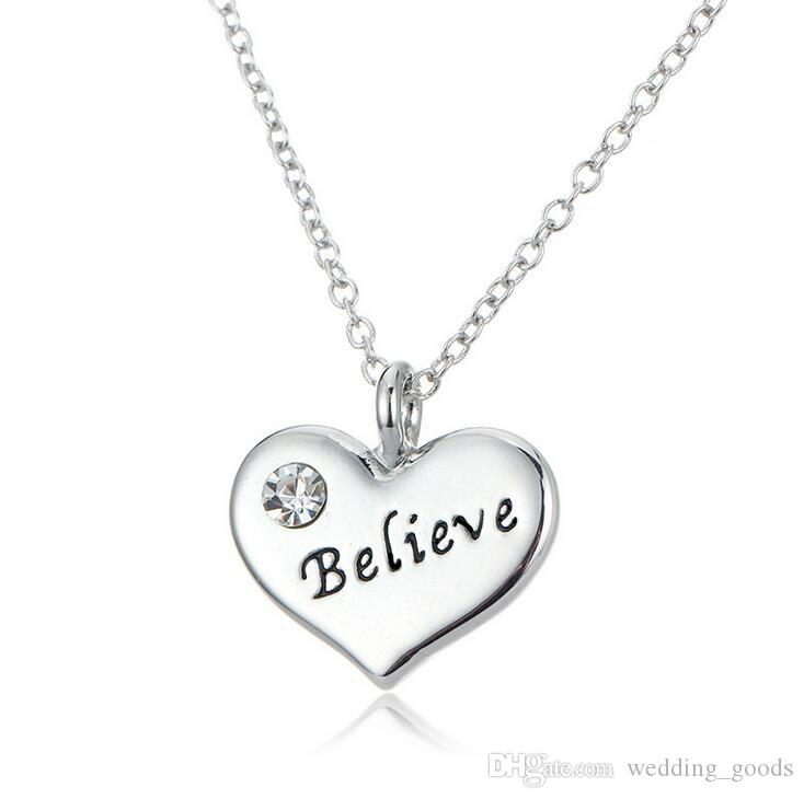 Hot sale Diamond Necklace Family Series Big Letter Series Nurse Teacher Niece Father WFN109 with chain a