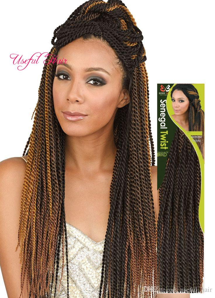 2019 Marley Ombre Blonde 18 Senegalese Twist Crochet Braids Hair