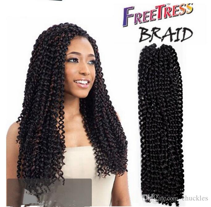 Freetress Crochet Braid Water Wave Synthetic Hair Extension Deep