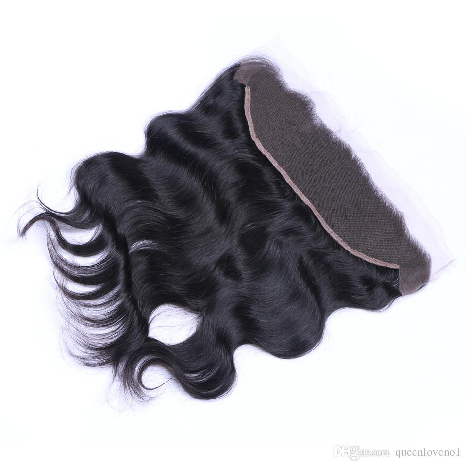 البرازيلي الجسم موجة 13x4 الرباط أمامي إغلاق الجزء مجانية 100٪ الماليزية الهندية بيرو الكمبودية غير المجهزة العذراء الإنسان مع شعر الطفل