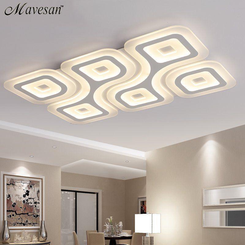 compre modernas luces de techo led para sala de estar dormitorio acrlico cocina decorativa lamparas de techo moderno lmparas a 26181 del goods520 - Lamparas Modernas De Techo