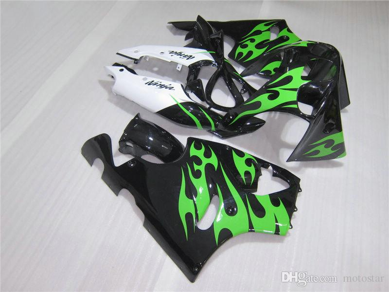 Top selling body parts Fairings set for Kawasaki Ninja ZX7R 96 97 98 99 00-03 green white black fairing kit ZX7R 1996-2003 OY31
