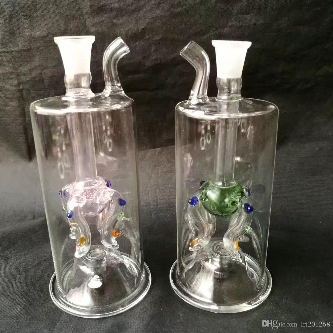 High quality color four claws 47 lamp pot  , New Unique Glass Bongs Glass Pipes Water Pipes Hookah Oil Rigs Smoking with Droppe
