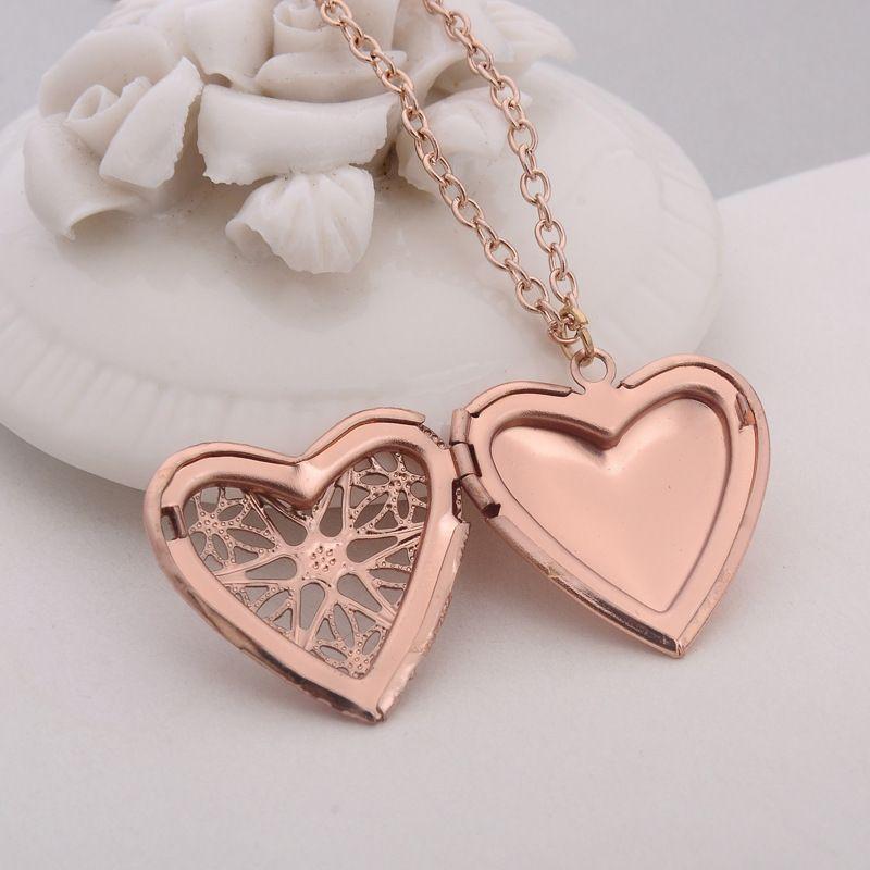 metall charme medaillon herzformgedächtnis medaillons schwimmende foto halskette liebe geschenk