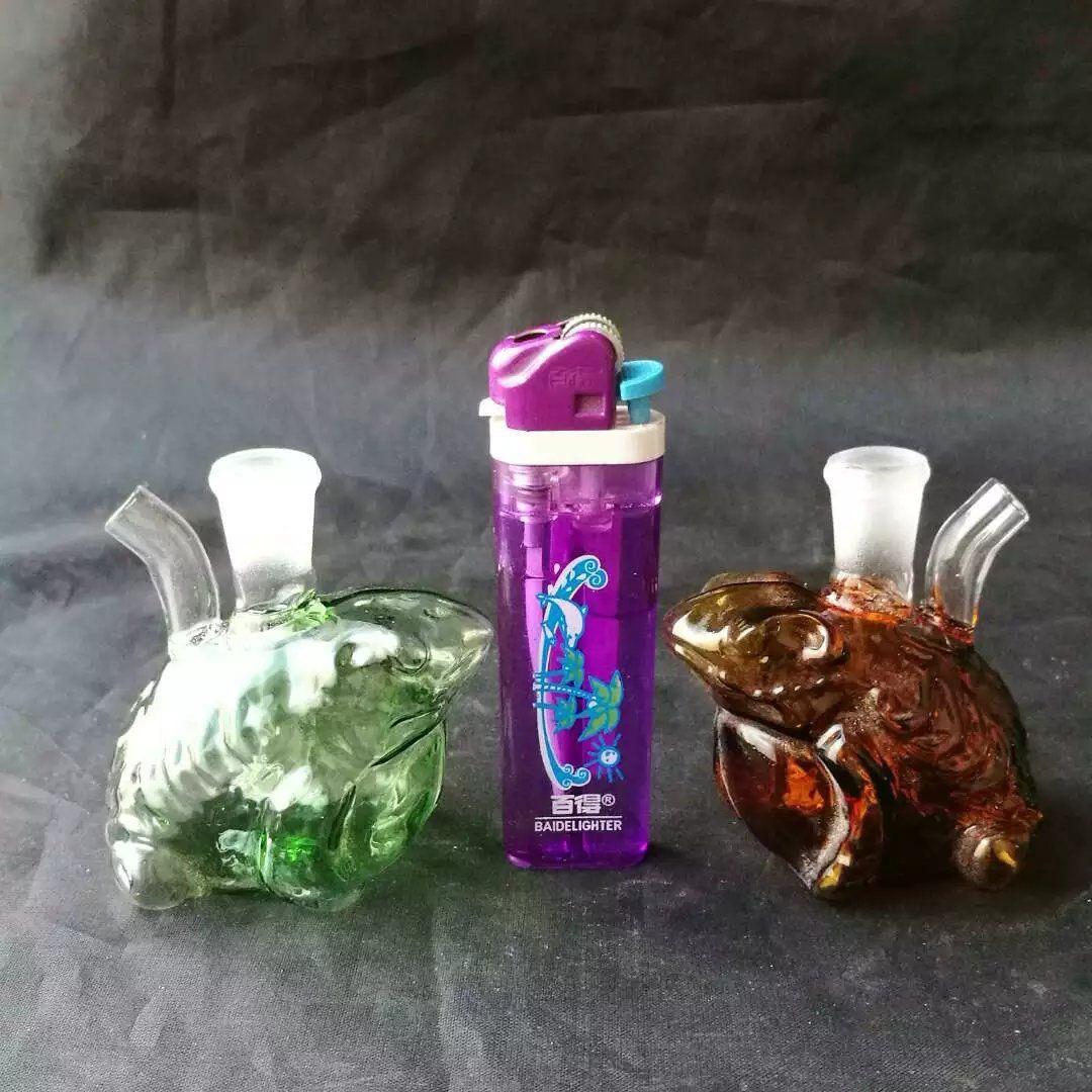 Renkli Kurbağa Nargile Cam Bongs Aksesuarları, Cam Sigara Borular renkli mini çok renkli El Boruları En İyi Kaşık glas