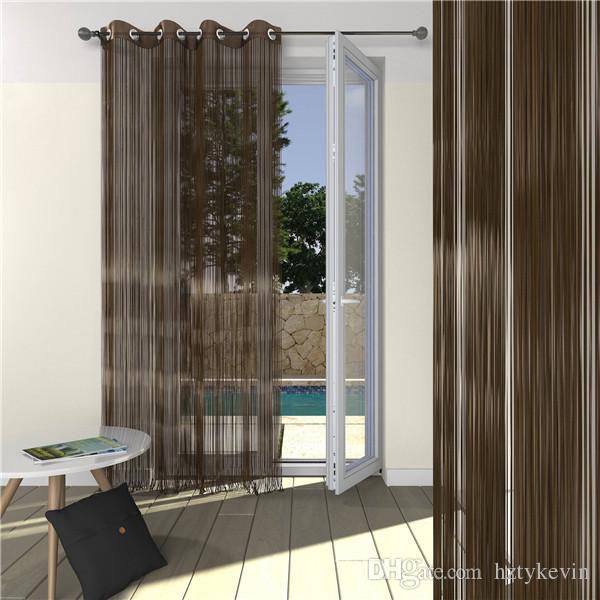 Großhandel Luxus Spaghetti String Vorhang Design Neues Modell Flamme  Resistent Tür Fenster Vorhang Für Wohnzimmer Von Hztykevin, $9.05 Auf  De.Dhgate.