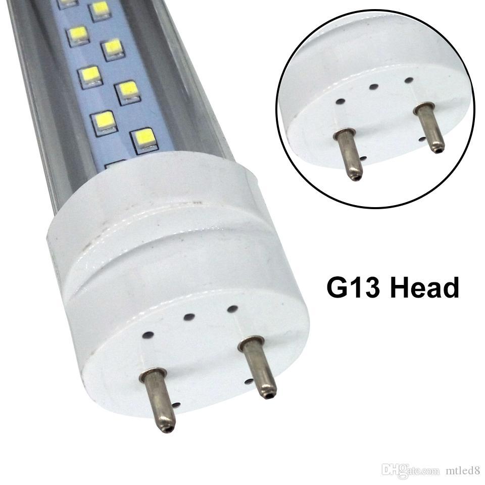 Acción en los EEUU tubos LED T8 28W 2900LM 4FT SMD2835 G13 192LEDS 1,2 m doble fila CA 85-265V llevó la iluminación fluorescente