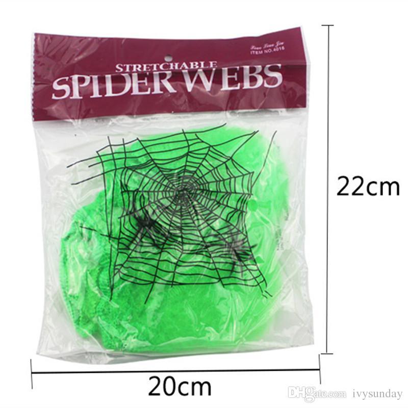 Sıkı Örümcek Web Örümcek Ağı Prop için Dayanıklı ve yeniden yapay hediye Cadılar Bayramı Ev Bar kostüm Partisi Festivali perili ev Dekor