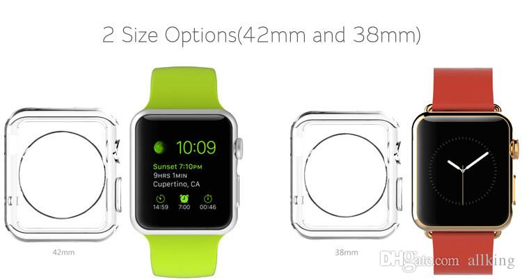 Hot sale Ultra Thin Apple Watch TPU Case Crystal Clear 0.3mm TPU Soft Cover case For Apple Watch 42mm 38 mm DHL