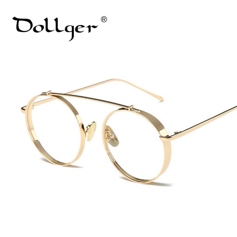 Compre Atacado Dollger 2017 New Hipster Metal Vintage Rodada Óculos Frame  Super Óculos Feminino Masculino Listrado Metal Príncipe Espelho Eyewear  S1346 De ... 2ceb1dd542