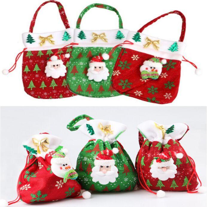 christmas candy bags ornaments sequins embellished non woven christmas bag fabrics party gifts for kids candy bag christmas gift santa decorations seasonal - Christmas Candy Bags