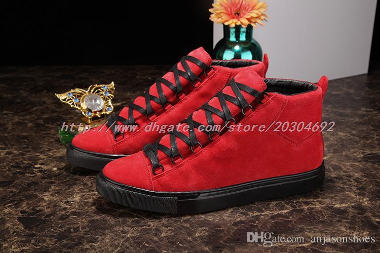 Wholesale Men Sneakers Red Shoes Suede