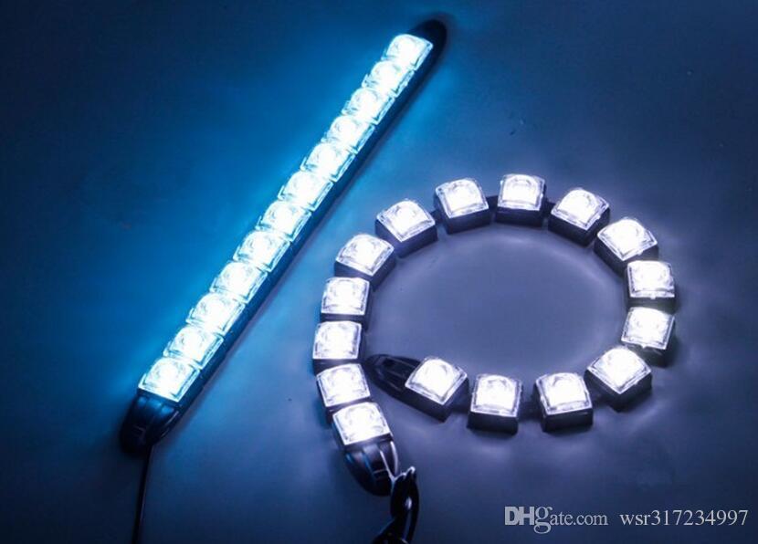 Accessoire de voiture COB DRL entraînant le feu de brouillard 6 LED de lumière diurne flexible pour Honda / Toyota / Hyundai / VW / Kia for Mazda / Buick / Nissan, etc.