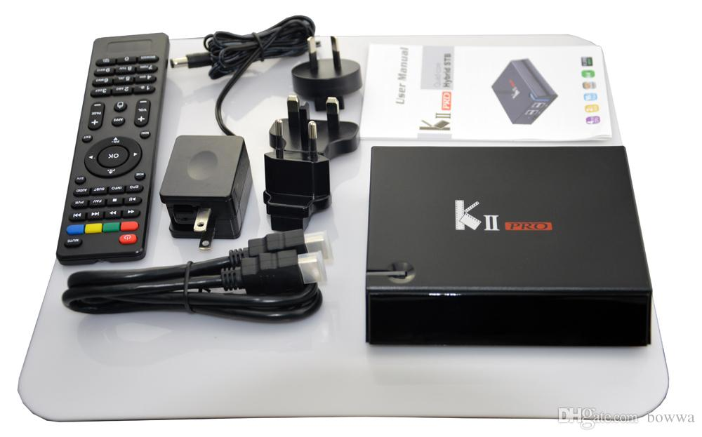 Android Box KII Pro 2GB 16GB DVB-S2 DVB-T2 Quad core Bluetooth Full Hd 4K S905D XMC Media Player TV Boxes