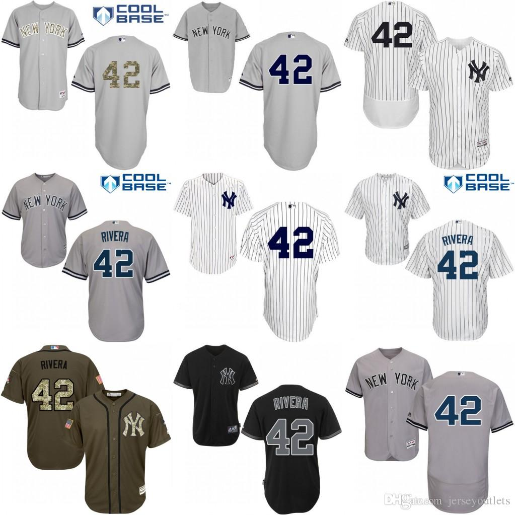 fc09b334166 ... york yankees flex base 7fb4a 0b067  coupon code for 2017 black grey  white mariano rivera replica jersey mens 42 majestic mlb new