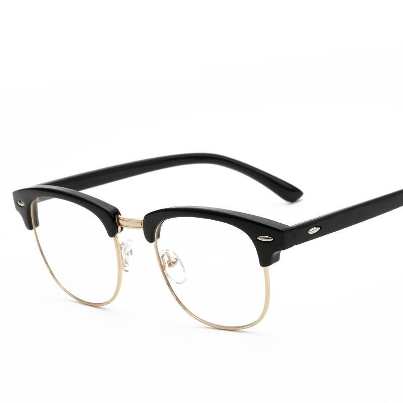 d053205c34 2019 Wholesale New Fashion Optical Glasses Spectacle Frame For Men Women  Glasses With Clear Glass Male Female Clear Transparent Glasses From  Pulchritudinous ...
