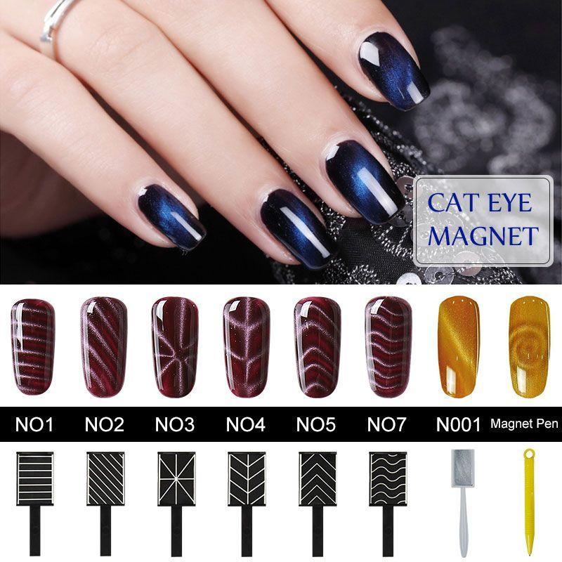 Belen Nail Art Sticker Cat Eye Gel Polish Magnet Stickers Manicure ...