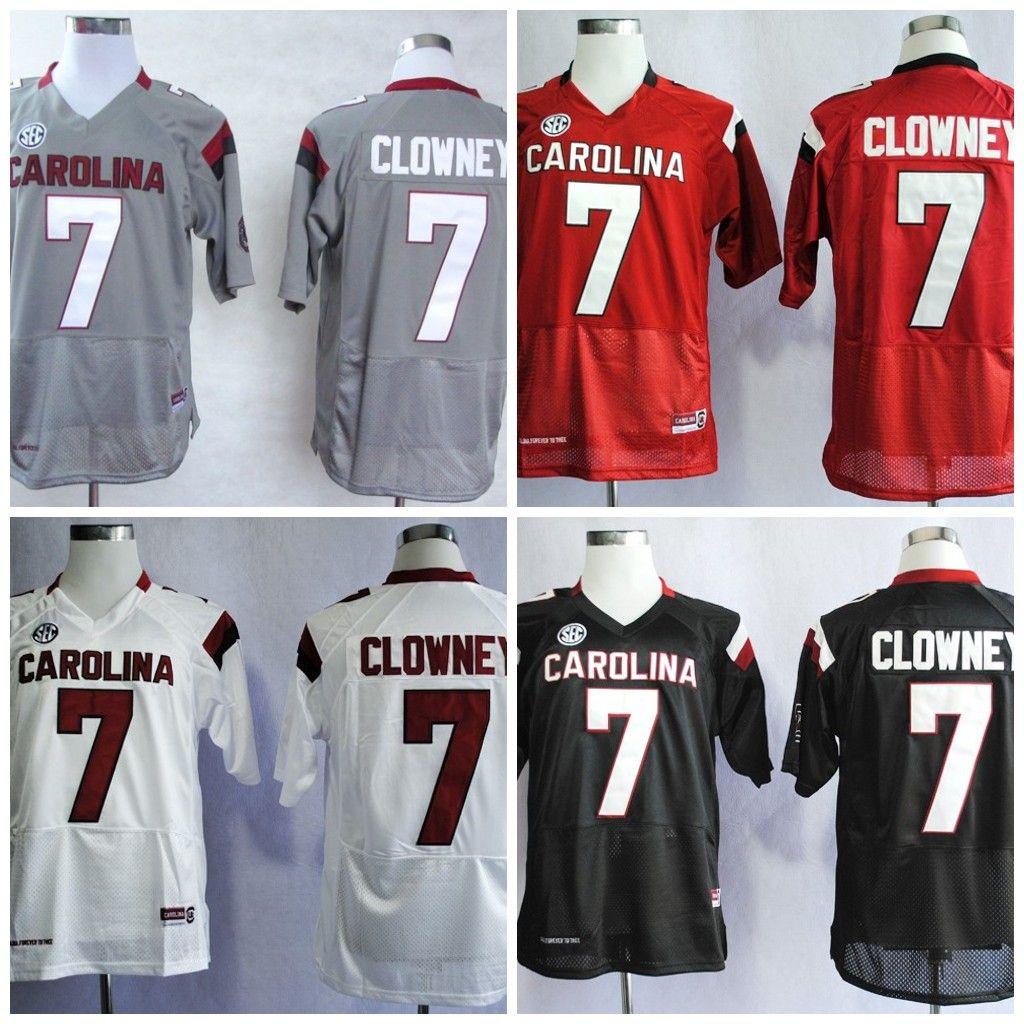 2e84636e3 ... jerseys  best mans south carolina gamecocks college football 7 jadeveon  clowney white gray black red stitched ncaa