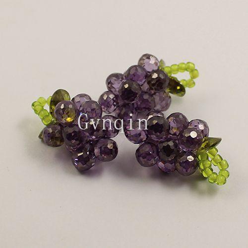 / violet zircone cubique grappe de raisin pour pendentif diy jewelly